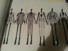 Fashion Sketchbook drawings - fashion design sketches; developing a fashion collection // Svitlana Andriyets