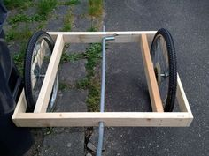 Easy-build Bike Trailer : 5 Steps (with Pictures) - Instructables Kayak Trailer, Trailer Diy, Chariot Velo, 24 Bike, Bicicletas Raleigh, Food Cart Design, Wood Cart, Bike Cart, Velo Cargo