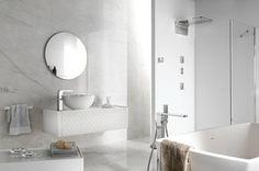 Porcelanosa Tiles Arabescato Modern Bathroom