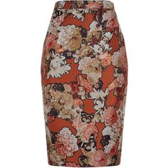 Givenchy Floral Jacquard Pencil Skirt ($1,230) ❤ liked on Polyvore featuring skirts, pencil skirt, floral print skirt, print skirt, jacquard skirt and floral skirt