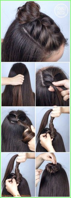 Top 60 All the Rage Looks with Long Box Braids - Hairstyles Trends Bun Hairstyles For Long Hair, Braided Hairstyles Tutorials, Summer Hairstyles, Diy Hairstyles, Simple Hairstyles, Easy Hairstyle, Popular Hairstyles, Wedding Hairstyles, Drawing Hairstyles