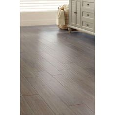 Home Decorators Collection Handscraped Strand Woven Driftwood 3/8 in. x 5-1/8 in. x 36 in. Click Engineered Bamboo Flooring (25.625 sq. ft. / case)-AM1315E - The Home Depot