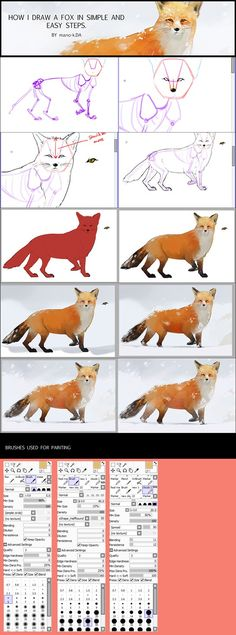 Newest Totally Free fox drawing tutorial Concepts : Learn how to draw with these tutorials, which teach you to draw animals, people, flowers, landscapes and more. In the event working out lure is one ar. Digital Painting Tutorials, Watercolour Tutorials, Art Tutorials, You Draw, How To Draw Foxes, Fox Anatomy, Fox Drawing, Figure Drawing, Fox Crafts