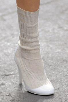 Chanel ss 2014 shoes + socks = shocks