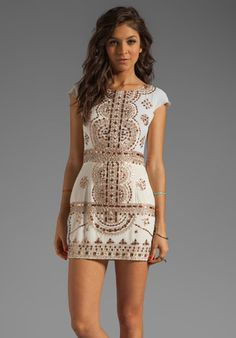 Beautiful ivory and rose gold dress