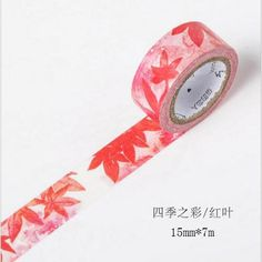 DIY 7M Cute Kawaii Flower Leaf Washi Tape Colorful Adhesive Tape For Home Decoration Scrapbooking Free 180