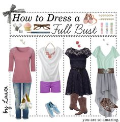 """""""How to Dress a Full Bust!"""" by the-tip-geek ❤ liked on Polyvore"""