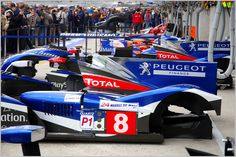 Body parts from the Peugeot 908 LMP1