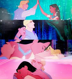 Pocahontas and John Smith. If only it ends up like this. If you don't know what I am talking about then watch Pocahontas Disney Pocahontas, Disney Xd, Disney Couples, Disney Magic, Disney Pixar, Disney Princess, Disney Animated Movies, Disney Films, Disney And Dreamworks