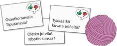 Juttu-tuvan juttusalkku – ryhmän vuorovaikutusta tukevaa tekemistä Viria, Place Cards, Place Card Holders, Aphasia