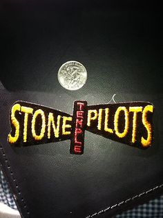Stone Temple Pilots Logo Yellow/Red SEW/IRON ON EMBROIDERED PATCH NEW