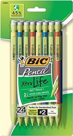 BIC Pencil Xtra Life, Medium Point (0.7mm), 24-Count, http://www.amazon.com/dp/B00347A970/ref=cm_sw_r_pi_n_awdm_scXJxb7YV2VGS