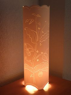 Table lamp vintage botanical floral botanical plant by GlowingArt, $100.00