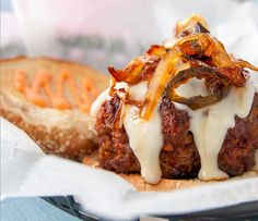 Burgers With Caramelized Onions, Jalapeño Relish And Red Pepper Mayonnaise Recipe | Food Republic