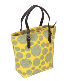 Leather Tote Yellow Spiro