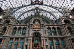 Beautiful Train Stations From Around The World - Antwerp Central Station — Antwerp, Belgium | #Antwerp #Trainstation #Places |