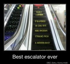 star wars I want to find this escalator and walk upon it