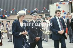 June 27 1985 Princess Diana and Prince Charles meet and greet the people of Atherstone, Warwickshire, England  THE PRINCE AND PRINCESS OF WALES VISIT The BOSWORTH BATTLEFIELD SITE ON ITS 500TH ANNIVERSARY