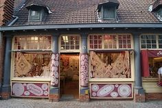 """BELGIUM: """"I also came across this little Christmas shop selling handmade traditional wooden tree decorations..."""""""