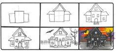 How to Draw a Haunted House Scary   Drawing Halloween: Scary-Fast Tutorials for Drawing Scary-Awesome ...