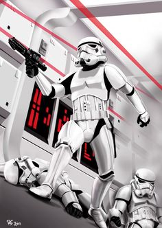 Stormtrooper by *rhymesyndicate on deviantART | This art first pinned here: http://pinterest.com/fairbanksgrafix/star-wars-art/  | #StarWars #Art #StarWarsArt