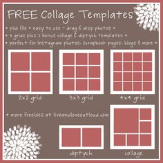 Download free digital picture collage templates to make creative