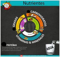 #Alimentacion #saludable  #Nutrientes  En la gran mayoría de los casos, los alimentos tienen mezclas de nutrientes. Por lo general las #grasas (en especial lacteos y carnes) tienen cnatidades de #proteinas al igual que los #carbohidratos como el arroz integral, trigo, quínoa poseen cantidades de #proteínas considerables.