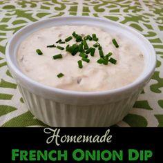 Homemade French Onion Dip! PrimallyInspired.com