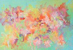 azalea time abstract painting acrylic painting by pointartgame, €200.00