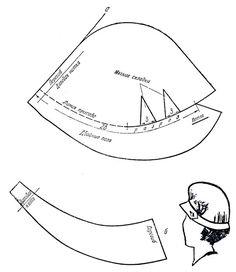 Шляпа из сукна или облегченного драпа [1962 Слезкина И.К. - Женские головные уборы]