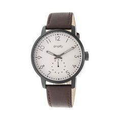 Men's Simplify The 3400 Quartz Watch Dark /Khaki/tan