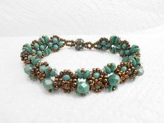 Victorian Beaded Bracelet, Turquoise Victorian Bracelet,Pearl Bracelet,Victorian Style Bracelet, Victorian Jewelry