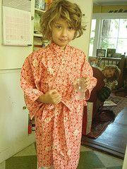 my sweet girl in ambatalia kimono, see baby in the back!!