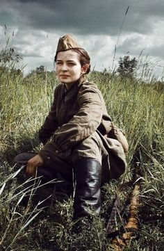 Lyudmila Pavlichenko was a famous female Russian sniper in WWII.