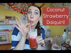 Coconut Strawberry Daiquiris! | Pinterest Drink #32 | MamaKatTV - YouTube