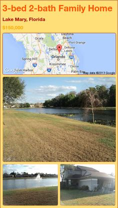 3-bed 2-bath Family Home in Lake Mary, Florida ►$150,000 #PropertyForSale #RealEstate #Florida http://florida-magic.com/properties/92190-family-home-for-sale-in-lake-mary-florida-with-3-bedroom-2-bathroom