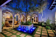 A Spanish Revival/ Spanish Colonial - mediterranean - patio - orange county - South Coast Architects, Inc. Spanish Style Homes, Spanish Revival, Spanish House, Spanish Colonial, Courtyard Design, Courtyard House, Patio Design, Courtyard Ideas, Courtyard Gardens