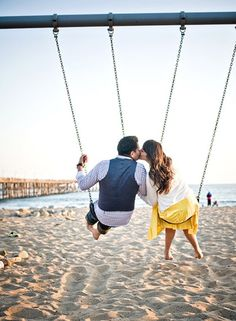 on swings:)...an old swing hanging from a tree would be cool or a tire swing would be cute