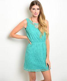 #EnvíoInmediato: Vestido turquesa #encaje #floral