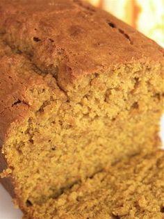pumpkin bread  sub: splenda for 1/2 the granulated sugar  applesauce for butter  1/2 cup egg whites for 2 of the eggs