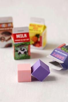 Milk Carton Eraser Set - Urban Outfitters
