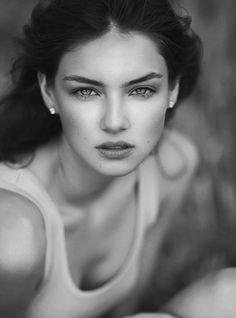Vika Levina portrait black and white photo