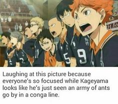 Kageyama looks so confused XD>>>I'm so grateful for fandoms. I'd never notice stuff like this