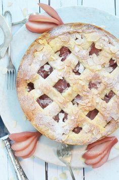 Stoofperentaart - Food and Drink Bake My Cake, Pie Cake, Baking Recipes, Cookie Recipes, Pear Pie, Vegan Cake, Cupcake Cookies, Cupcakes, Homemade Cakes
