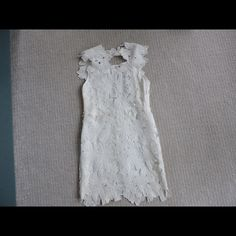 White floral lace dress One of the most beautiful dresses I've ever seen/owned!! looks amazing on Choies Dresses Mini