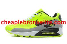 Nike Air Max 90 Shoes Electric Yellow Black Neutral Grey 333888 301