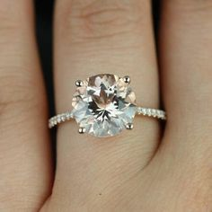 Eloise 14kt Rose Gold Round Morganite  - Love the color.