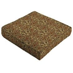 Patio Cushion Ideas - Hampton Bay Cayenne Scroll Quick Drying Outdoor Seat Cushion - The Home Depot Cushion Ideas, Outdoor Seat Cushions, The Hamptons, Outdoor Seat Pads