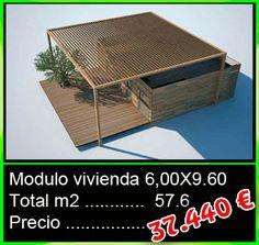 Vivienda modular con un total de 57,6m2 - Mobilhomes y Caravanas ocasión Tarragona