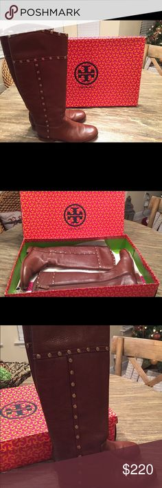 TORY BURCH Riding Boots Authentic Tory Burch Mae riding boot. Size 7 (I wear a size 8, this style runs small). Tory Burch Shoes